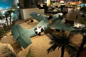 F4F-3 Wildcat on display representing Cactus Air during the Battle of Guadalcanal